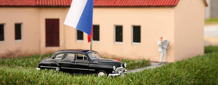 Wóz KGB w miniaturze. Bałtycki Park miniatur w MIędzyzdrojach