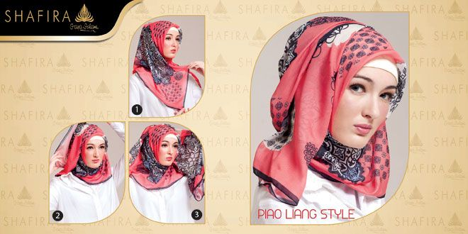 Jilbab Style Tutorial, Piao Liang Style