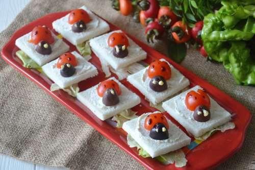 Tartine coccinella