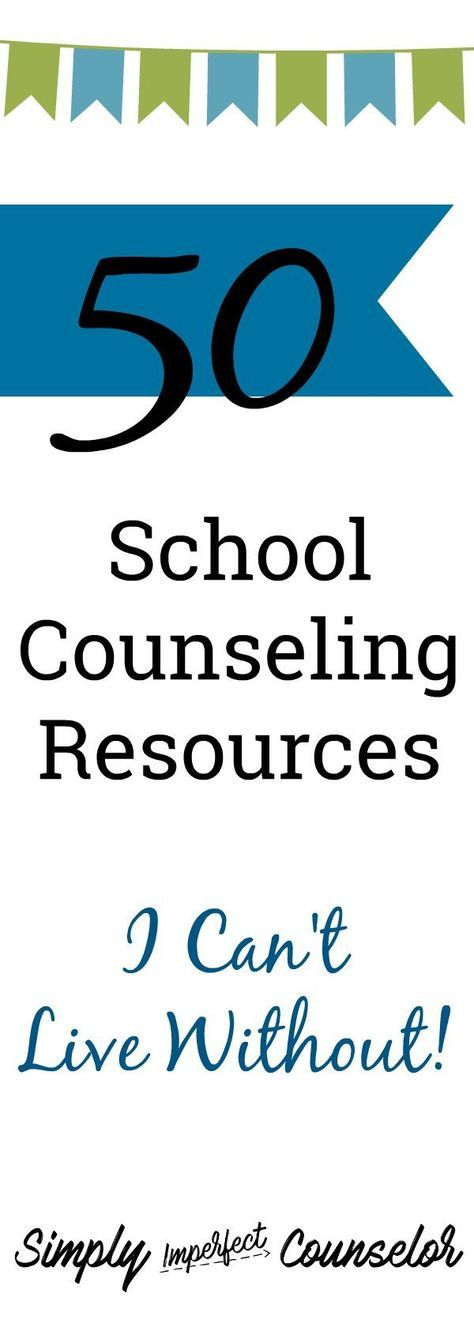 School Counseling resources I can't live without! There are so many good resources out there and this is a few of mine… Check them out here. SimplyImperfectCounselor.com