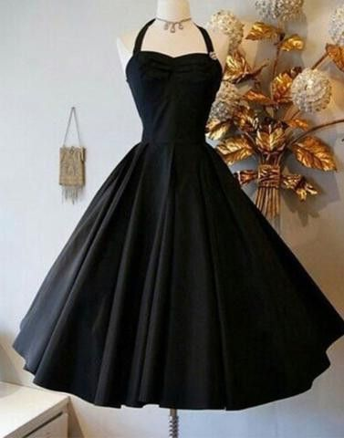 Black A-line strap satin short knee-length Prom Dresses Gown special high quality,cheap homecoming prom gown BD1705564