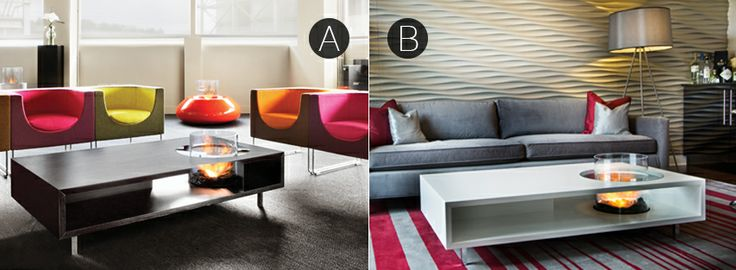 Fans of coffee in the morning, unite! How do you like your coffee? Long Macchiato (a) or Flat white (b).  Product: Coffee Fire Long by Planika www.planikafires.com