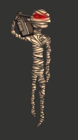 Hip Mummy by BlueBitArt
