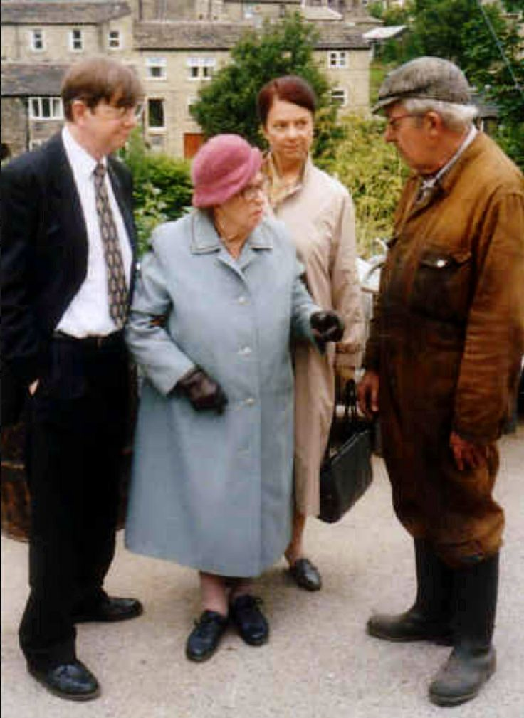 "Last of the Summer Wine (BBC)  ""Barry"" (Mike Grady), ""Edie"" (Thora Hird) ""Glenda"" ( Sarah Thomas) and ""Wesley"" ( Gordon Wharmby)"