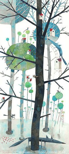 simona dimitri - life upon the trees