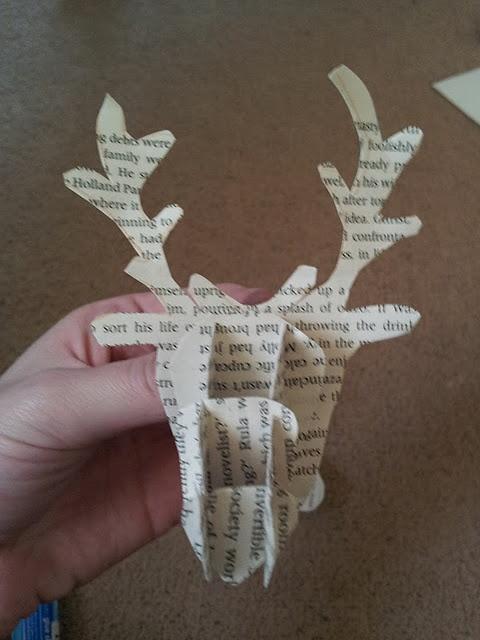 Book page deer head