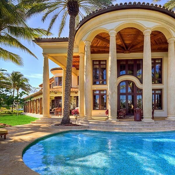 Fort Lauderdale Mediterranean Style Estate Rich And Famous - Before and after from a mediterranean house fort lauderdale