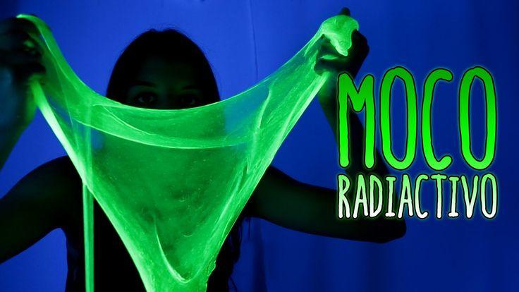 Cómo hacer MOCO radiactivo - SLIME fluorescente (Experimentos Caseros)