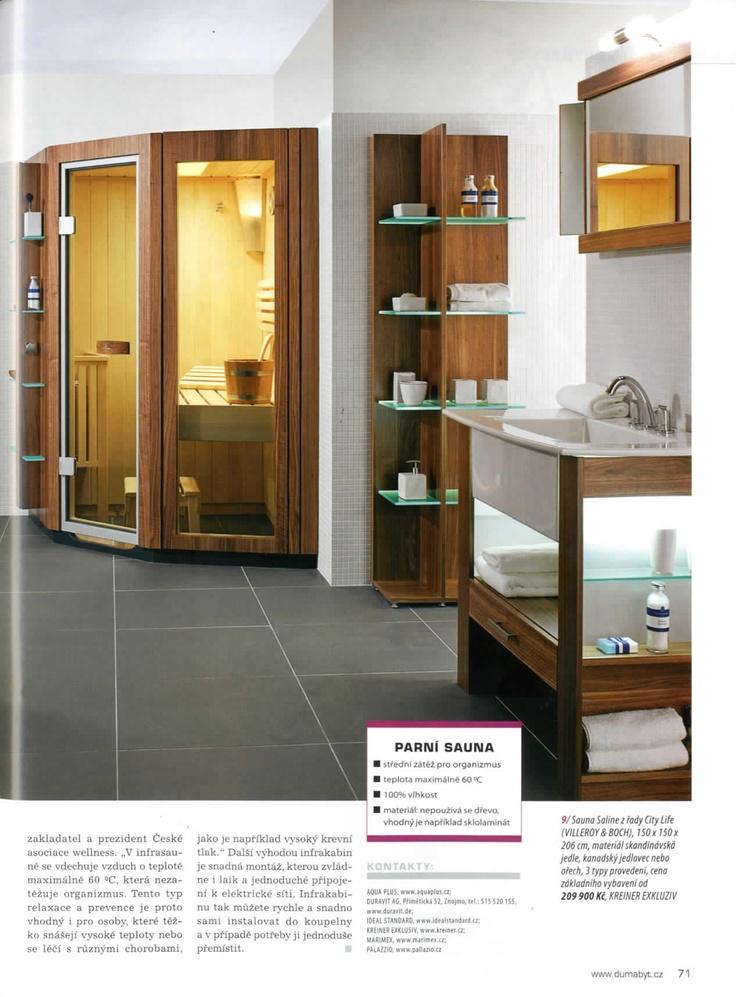 Naše infrasauny v časopisu Svět koupelen, strana 5. [12/12]