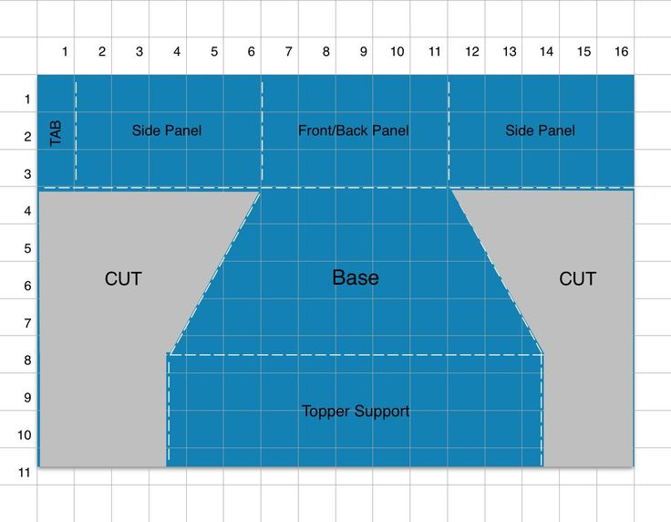 Hexagonal Base Pop Up Template