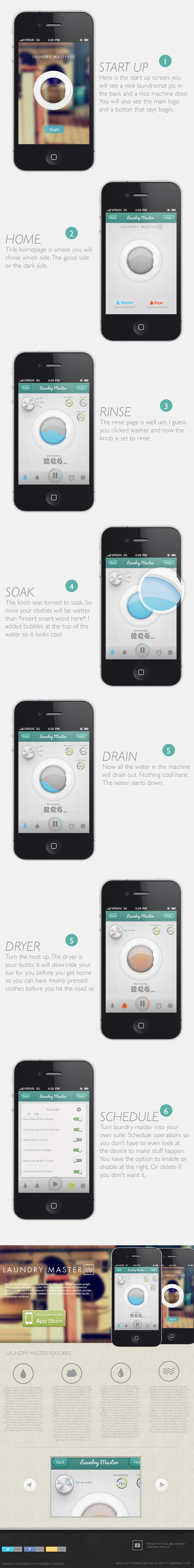 Laundry Master App - iOS by Zahir Ramos, via Behance