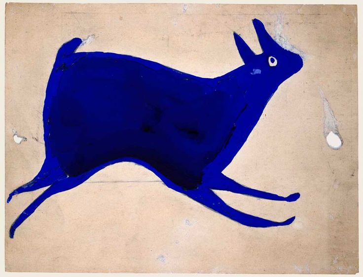Bill Traylor (c. 1854–1949) Montgomery, Alabama 1939–1942 Poster paint and pencil on cardboard 9 x 11 7/8 in.