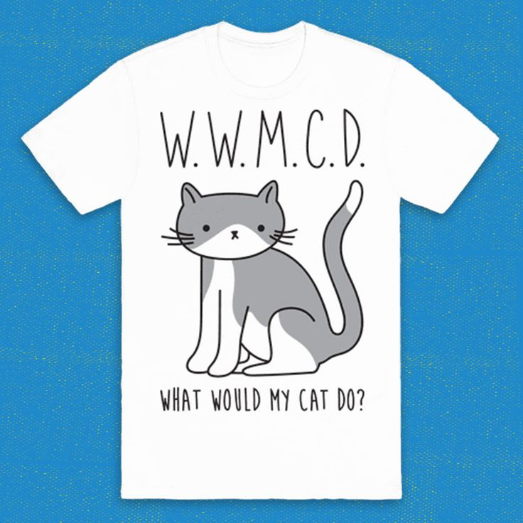 """Answering life's tough questions one cat at a time. This cat design features the text """"WWMCD - What Would My Cat Do?"""" with an illustration of a bicolor cat. Perfect for a crazy cat lady, cat lady, cat lover, cat love, lazy day, cat gifts, cat lover gifts, and cat owner!"""