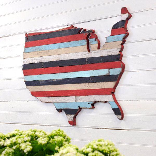 USA Wooden Pallet Map Art Large US Map Art Wooden