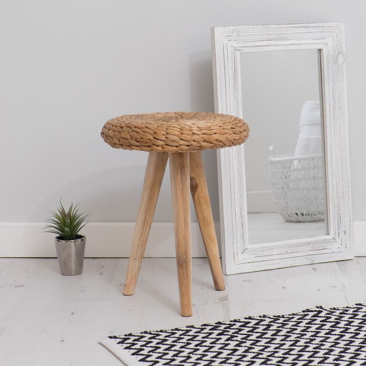 Beautiful natural wicker stool with wooden legs - Great kitchen bathroom or dressing table stool  sc 1 st  Pinterest & 36 best Interior Furniture images on Pinterest | Bedroom chair ... islam-shia.org