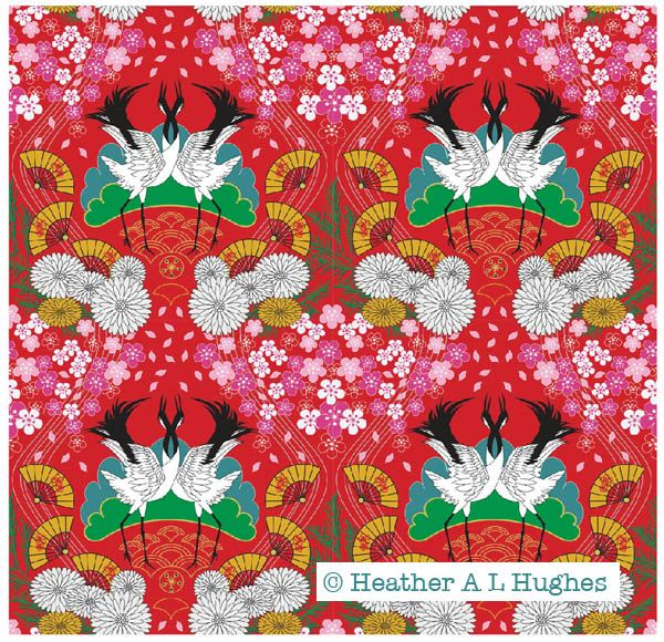 Design for Kabuki's Kingdom trend 2018 by Heather A L Hughes