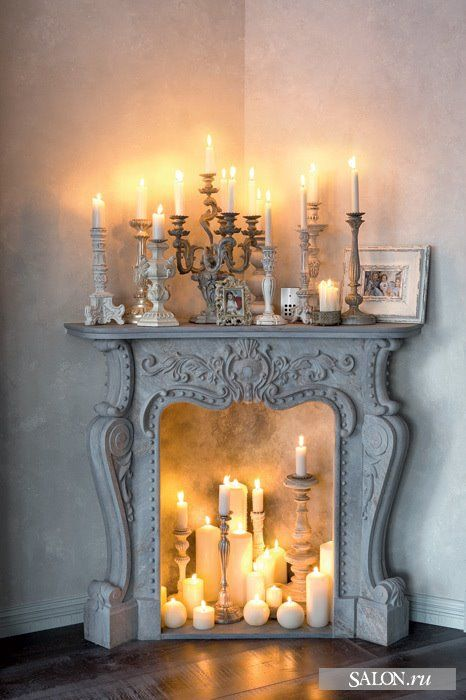 1000 Images About Ideas For Our Nonworking Fireplace On Pinterest Candles In Fireplace