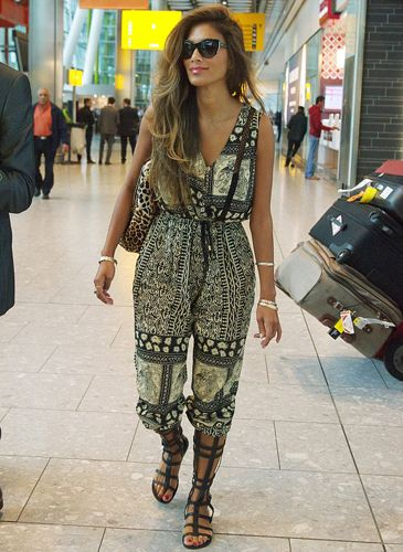 Nicole Scherzinger wears Wanderlust Lattice Jumpsuit