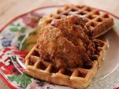 Pioneer Woman Chicken and Waffles with Maple Syrup and Bourbon Sauce Recipe : Ree Drummond : Food Network