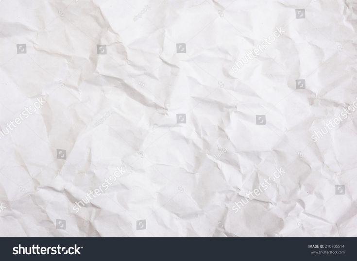 white crumpled paper