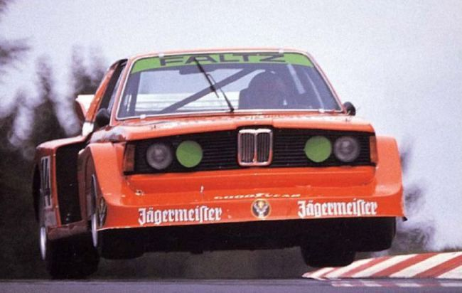 sports car week … air time Harald Grohs, Jägermeister Faltz BMW 320i, Internationales ADAC Eifelrennen, Nürburgring
