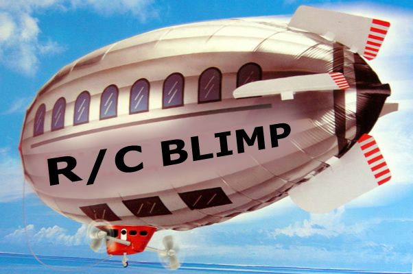 Radio Remote Control RC Blimp + R/C Wireless Spy Camera (RC Flying Saucer+Wireless Spy Cam GREAT FOR ADVERTISING )