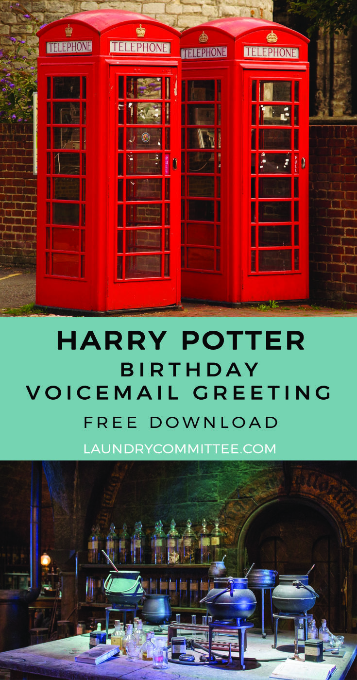 A Harry Potter Ministry Of Magic Voicemail Greeting Great Way To