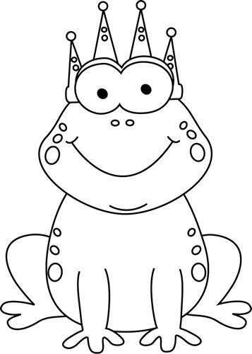 clip art black and white   Black and White Frog Prince Clip Art Image - black and white cartoon ...