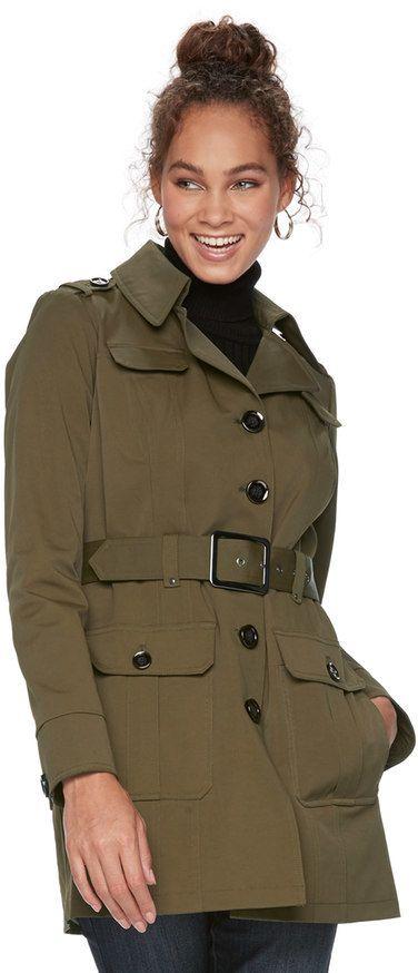 Apt. 9 Women's Military Trench Coat