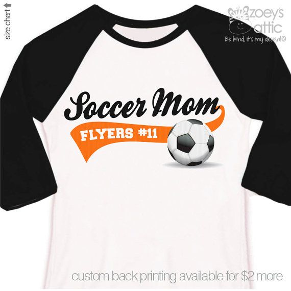 Soccer mom shirt custom with name and team name by zoeysattic