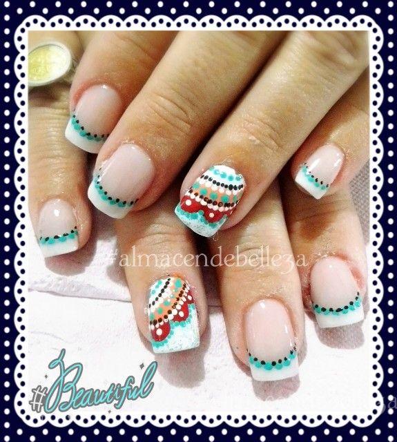 #Nails #nailart #uñasdecoradas #mandalas