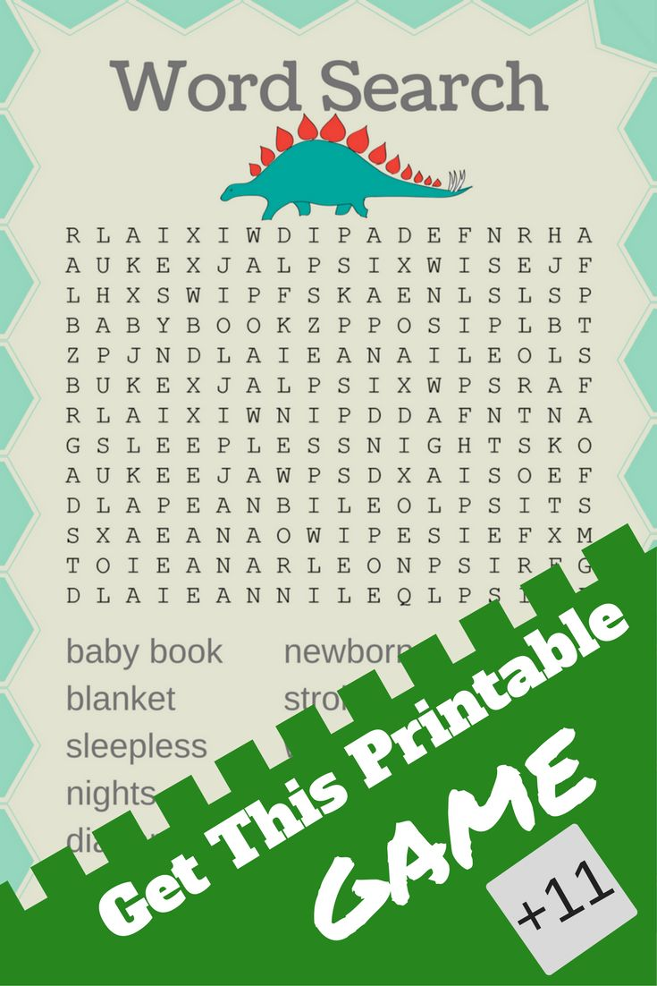 printable baby shower games | Dinosaur baby shower    The Dinosaur baby shower theme is great if you're throwing a boy themed shower. These printable baby shower games are sure to entertain your guests!