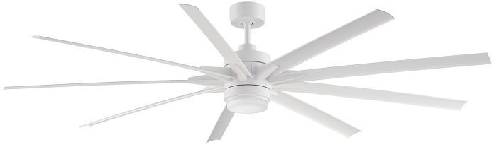 Pottery Barn Odyn Indoor/Outdoor Ceiling Fan, Matte White