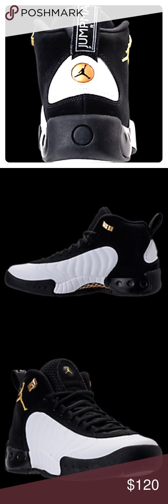 Jordan Jumpman Pro - Men's 9.5 New in box Jordan Jumpman Pro shoes, black and white with gold logo, new in box. Sold out in stores! Nike Shoes Athletic Shoes