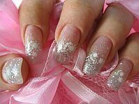 White Wedding Manicure