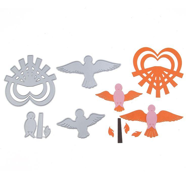 Cutting Dies Love Peace Pigeons Scrapbooking Dies Photo Album DIY Decorations Hands-on Craft Embossing Stencils Embossing