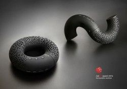 "Design by: Kateryna Sokolova – Portable Bluetooth speaker ""AeroTwist"""
