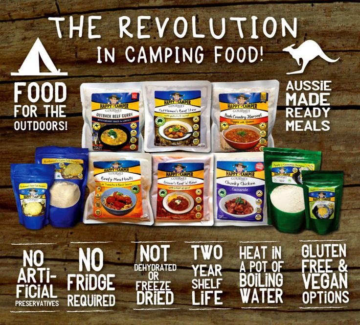 Happy Camper Gourmet meals