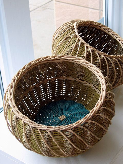 Urchin Baskets - Handwoven baskets inspired by sea urchins found on the beach.