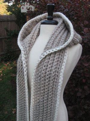 Nordic Hooded Scarf. Like the idea but nit a kniter. Maybe could make one out if fleece...