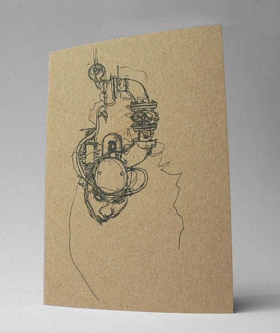 Ghost in the Machine Art Card Dark Creepy Gothic Art by Modru, €3.50