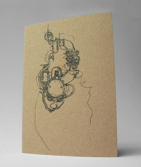 Ghost in the Machine Art Card Dark Creepy Gothic Art by Modru, €3.50