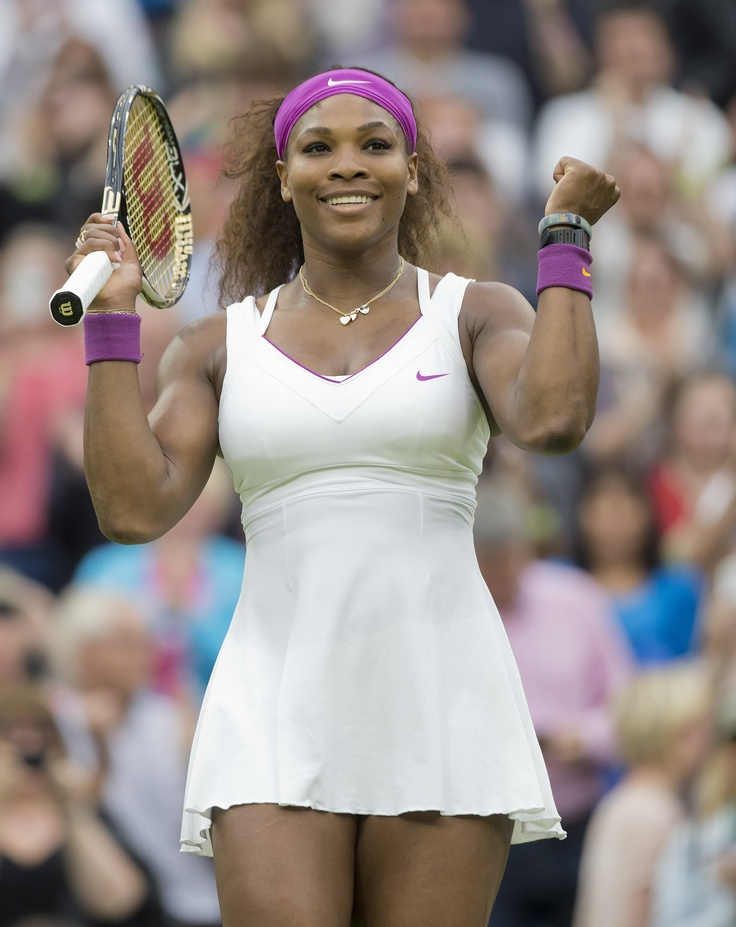 Serena Williams (Washington Kastles) celebrates her quarterfinal victory over Petra Kvitova.