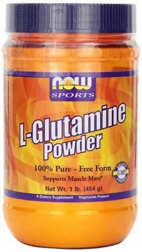 NOW  Sports L-Glutamine Powder, 1-Pound //Price: $19.41 & FREE Shipping //     #hashtag3