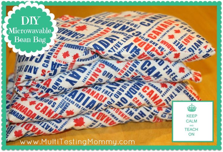 DIY Microwavable Bean Bag ~ (makes a great Back to School Teacher Gift) - @Christopher Puźmierowski-Testing Mommy