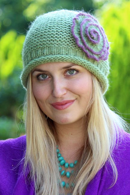 Rosey Flapper Beanie. You may experience an unexpected urge to dance the Charleston when you don this sweet crocheted beanie. Also makes a great gift hat for cancer patients.