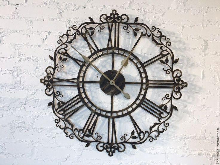 """Купить Часы 80см Aaris """"с патиной"""" с увеличенными стрелками - часы, римские, ажур, Декор"""