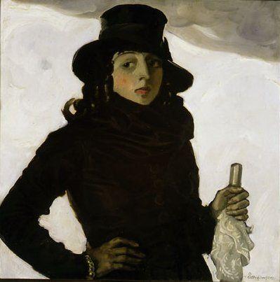 Tadeusz Pruszkowski, Portret żony artysty, 1920.
