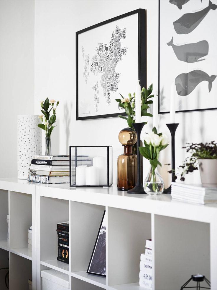 Details in the bookshelf in livingroom