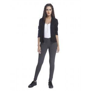 Buy Vero Moda Dark Grey Pants with Zip Detail Online   Vero Moda